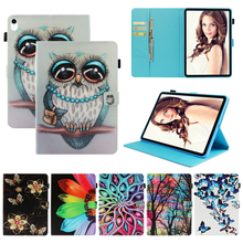 цена на Magnetic Tablet for Samsung Galaxy Tab E 9.6 T560 T561 Flip Stand Wallet Tablet PU Leather Tree OWL Case for Samsung Tab E T560