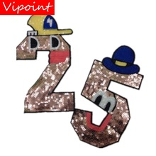 embroidery sequins letters patches for jackets,badges jeans,DIY appliques A76