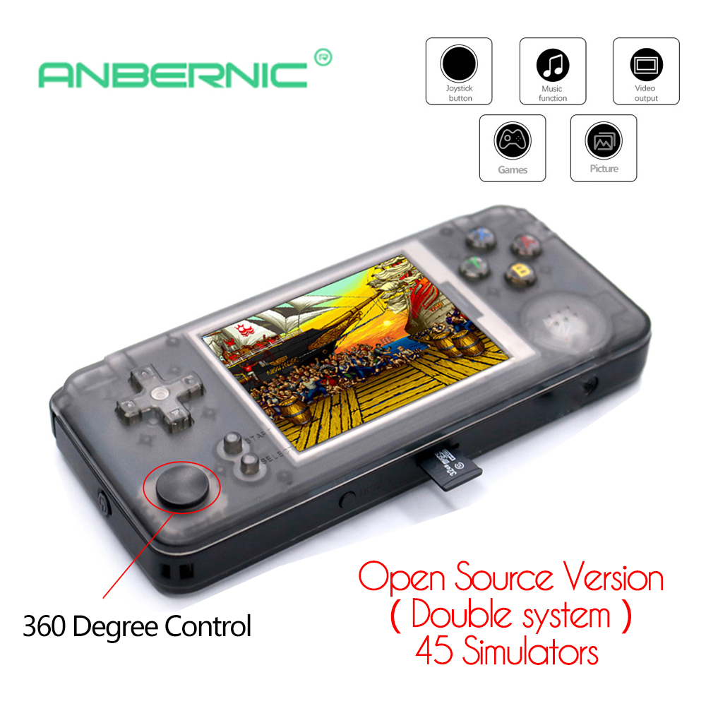 RS97 NEW Double system 32G Video Game Handheld Game Console Retro Game plus Built in 3000