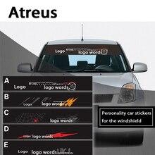 Atreus 1pc New Car Front Window Windshield Decal Reflective Stickers For Suzuki Swift Grand Vitara SX4 Vitara 2016 Jimmy Styling