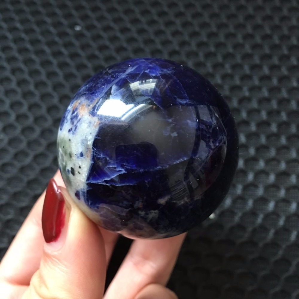 45mm Natural Sodalita Azul Escultura Gema Pedra
