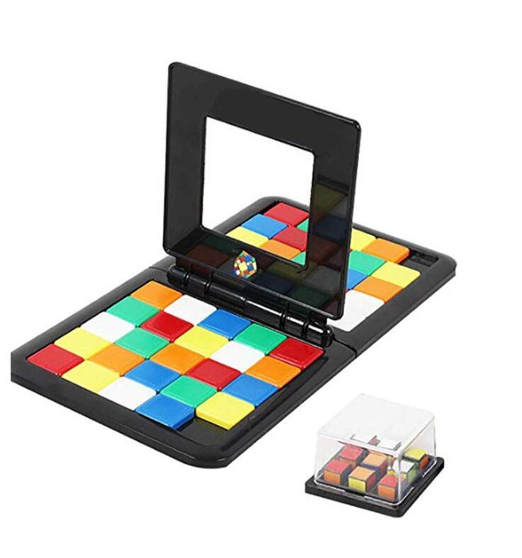 Quebra-cabeça cubo 3d puzzle corrida cubo jogo de tabuleiro crianças adultos educação brinquedo pai-criança duplo velocidade jogo cubos mágicos