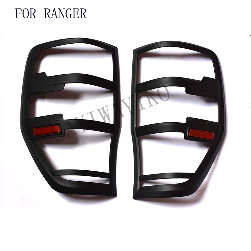 FIT for ford ranger accessories ABS matte black tail light covers trim for T6 T7 xlt 2012- 2017 car styling rear lamp cover