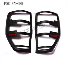 FIT for ford ranger accessories ABS matte black tail light covers trim for T6 T7 xlt