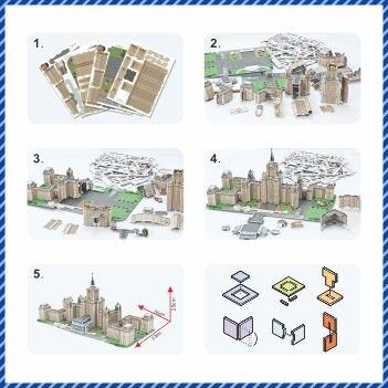 Ny modell 3D-lærer puslespill Buliding modell Lomonosov Moscow State - Puslespill - Bilde 4