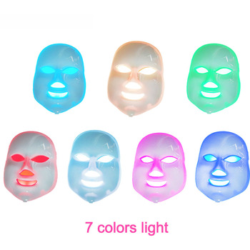 7 ȉ�美容セラピー光子 LED Ã�ェイシャルマスク光スキンケア若返りしわにきび除去顔美容スパ楽器