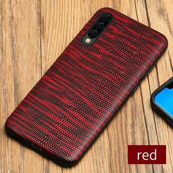 Galaxy A50 Case Flip Leather Red
