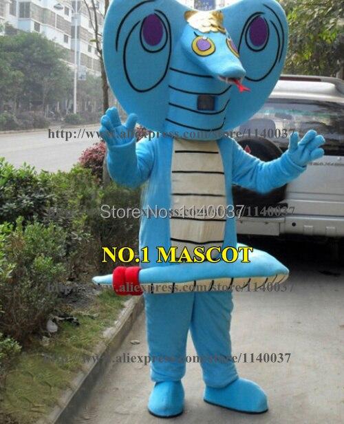 mascot Blue snake Mascot Costume Custom Cartoon Character Carnival Mascotte Costume Fancy Dress FREE SHIP WYT91342