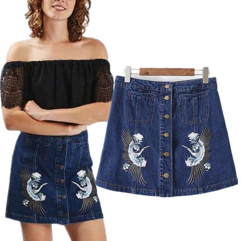 Джинсовые юбки бренды