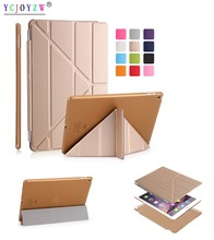 Case For Apple iPad Air 1 : A1474`A1475`A1476 (2013 ) Case ,YCJOYZW Color PU Leather+Ultra Slim Light Weight PC Back Cover Case