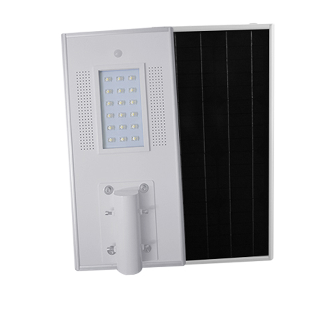 30W Integrated Solar LED Street Light Outdoor IP65 Solar Lamps with Infrared Motion Sensor and Light Sensor for Street Economy