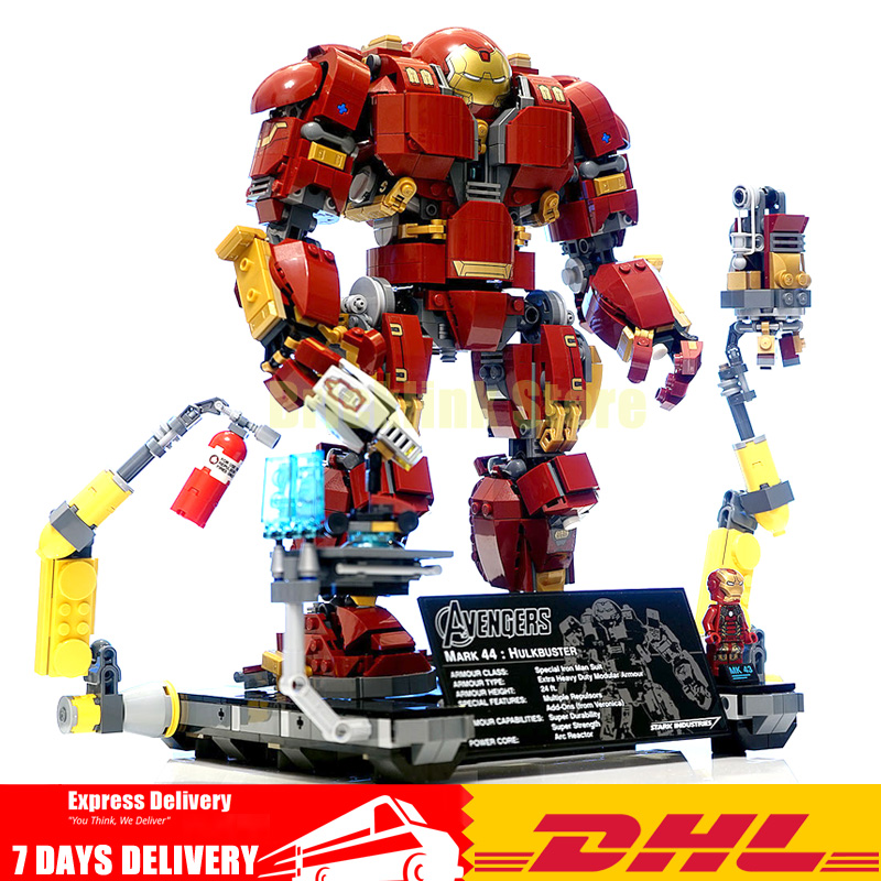 En stock super héros Iron Man Le Hulkbuster: Ultron Édition Jouet blocs briques de construction Modèle Clone Legoinglys 76105
