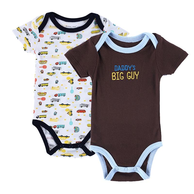 987db5480d7da 2 pcs style d été coton bébé garçons filles vêtements à manches courtes bébé  combinaisons nouveau-né vêtements salopette infantile clothing couleur bleu