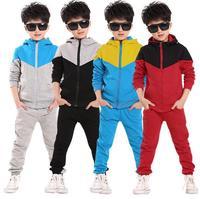 2016 Retail Children Shampooers Jogging Tracksuit Sport Set Hooded Coat Pants Kids Boys Baby Spring Autumn
