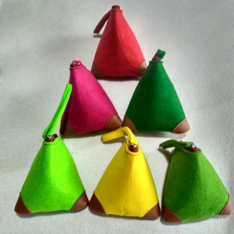Change-Purse Felt Small Random-Color of Custom Chemical-Fiber-Bag Spot-Support Amount