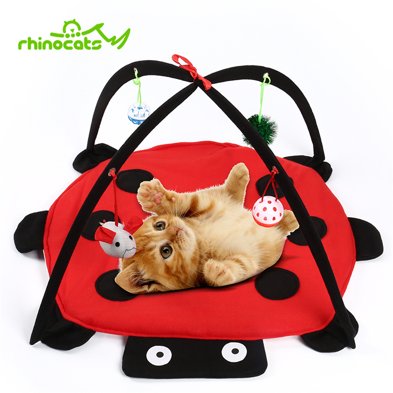 2 in 1 Cat Pet Toy With Ball And Cat Tent Hammock for Kitten Interactive Play Toys Mouse Game for Kat Cat Teaser Animal Products