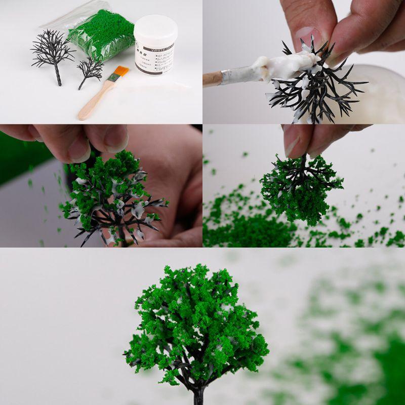 Artificial Grass Powder Miniature Tree Snow Micro Garden Landscaping Decoration Craft DIY Accessories