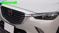 Front Grille Trims For Cx 3 2017 ABS Chrome 1pcs Set Auto Exterior Accessories