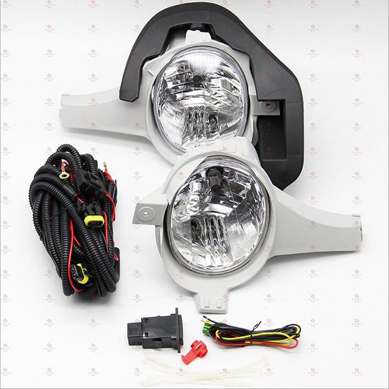 FULL FOG LAMP SET FOR Toyota HILUX VIGO FRONT FOG LAMP WIRE FOG LAMP SWITCH 2005 2006 2007 2 pc free shipping rear sticker hilux for toyota hilux vigo revo