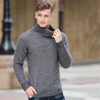 Sweater Men turtleneck Mink Cashmere Pullover Mens jumper Natural Cashmere Factory Low Discount korean style tsr592