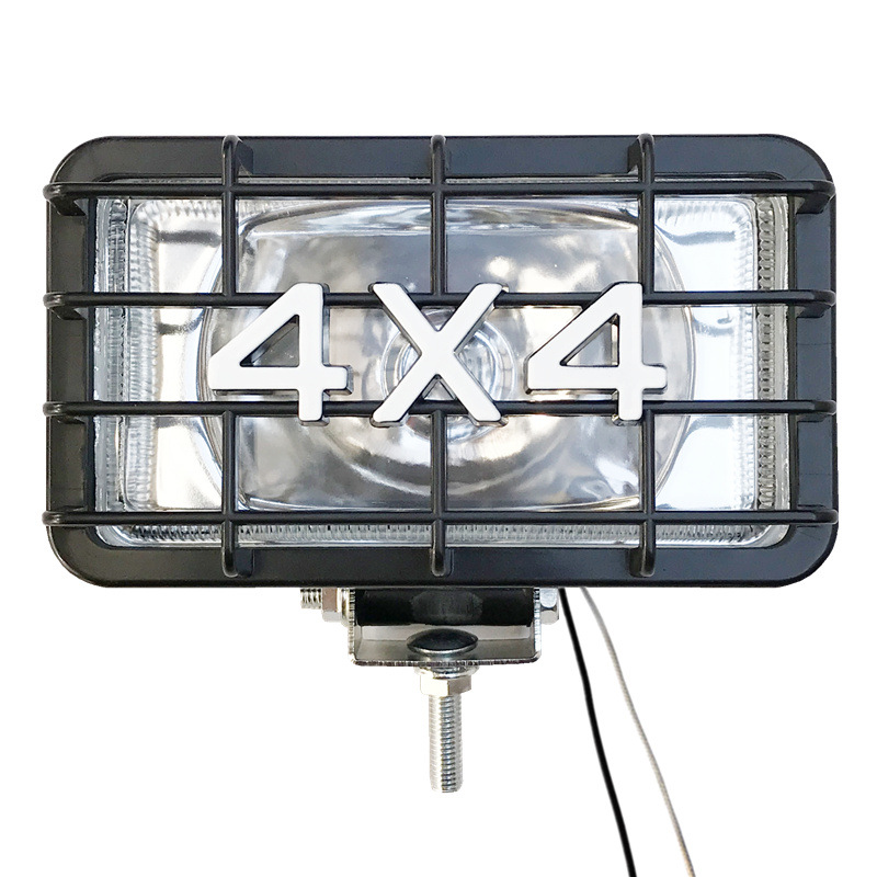 Agricultural Vehicles 4X4 Halogen 55W Rubber Work Flood Driving Fog Light Lamp SUV Truck offroad Jeep