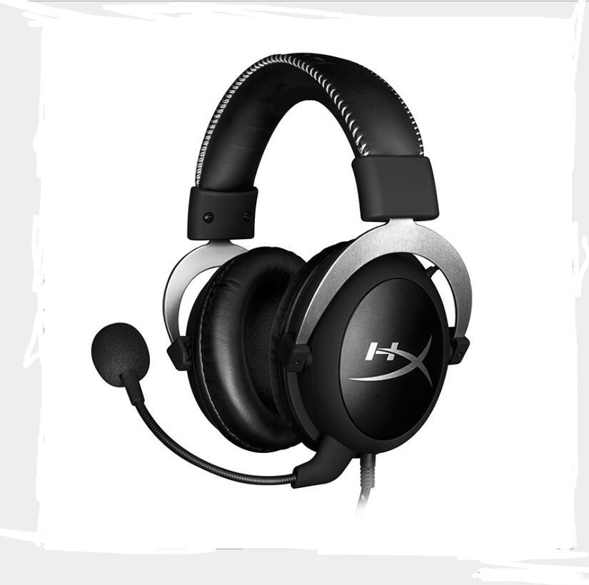 Kingston HyperX casque de jeu Casque Nuage Core Pro Argent Noir de Jeu Salut-fi Bandeau Avec Microphone Pour ComputerDesktop