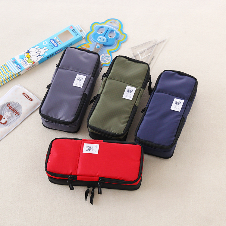 Korea Large capacity School Pencil Case & Bags Multifunction big pen bag for girls boys school supplies big capacity high quality canvas shark double layers pen pencil holder makeup case bag for school student with combination coded lock