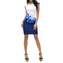 Fashion Women Formal Dress Party Evening Pencil Mini Dress Sleeveless Floral Dresses Vestidos