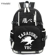 Anime Haikyuu Haikiyu Karasuno Rucksack Nylon Schüler Schultasche Unisex Reisetaschen Mode Reise Laptop Schultern Tasche