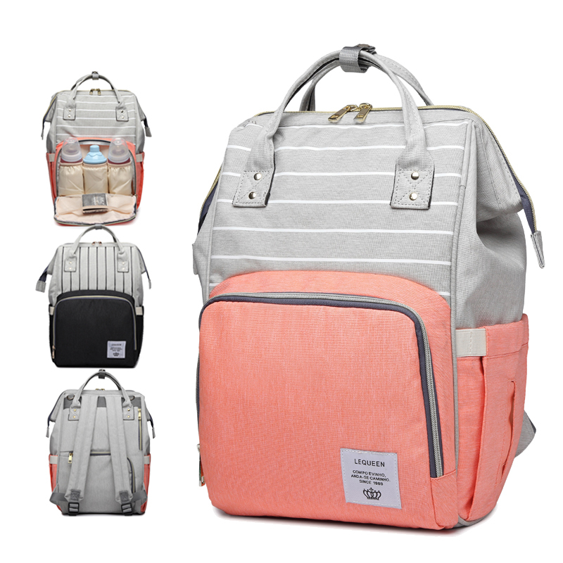 Fashion Mummy Large Capacity Baby Bag Striped Maternity Nappy Bag Bolsa Maternidade Designer Nursing Bag For Mother Baby Diaper