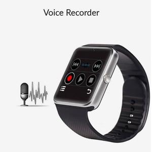 Image 2 - Bluetooth Smart Uhr Großen bildschirm touch fitness tracker Uhr SIM karte Call nachricht Erinnerung Schrittzähler Für Android tragen touch