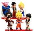 6pcs Dragonball z Vegeta Battle toys 2015 10cm Q Tamashii Nations super saiyan 5 goku Anime Dragon bal z  Miniatures figurines