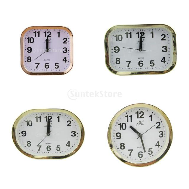 Modern Multi Shaped Desk Clock Quartz Clock Gold Frame Home Decor In