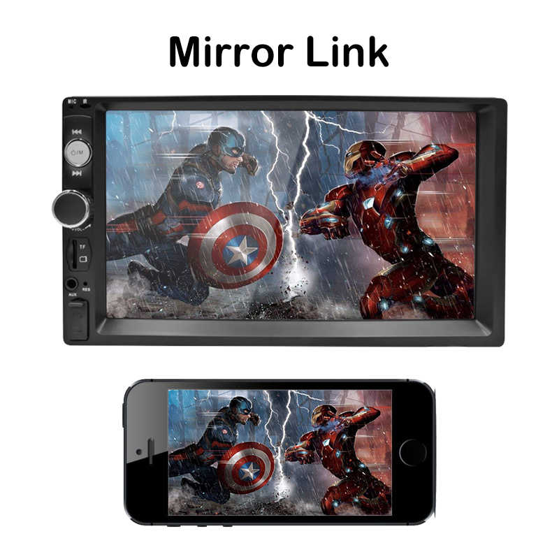 2 DIN Mobil Radio Bluetooth Stereo Multimedia Player Autoradio Layar Sentuh Auto Radio Android Dukungan Kamera Rear View MP3 MP5