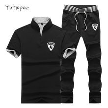 Tracksuit Men Summer Men's Shorts Casual Suit Sportswear Mens Clothing Sets Pants Male sweatshirt Men Brand Clothing Sweat Suit(China)