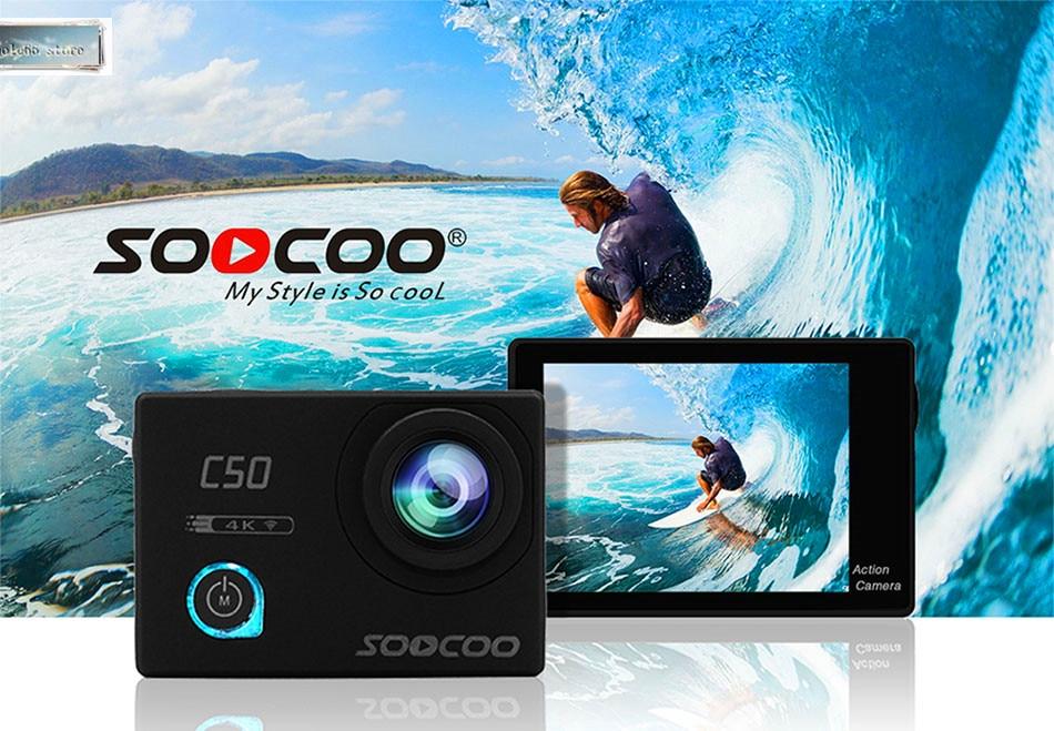 SOOCOO C50 экшн 4K 24fps Спортивная камера Wifi гироскоп регулируемые углы обзора NTK96660 30 м