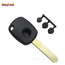 OkeyTech Remote Car Key Shell Blade Case For Honda CR-V Odyssey Fit City Civic Aaccord Transponder Replacement with Rubber Pad