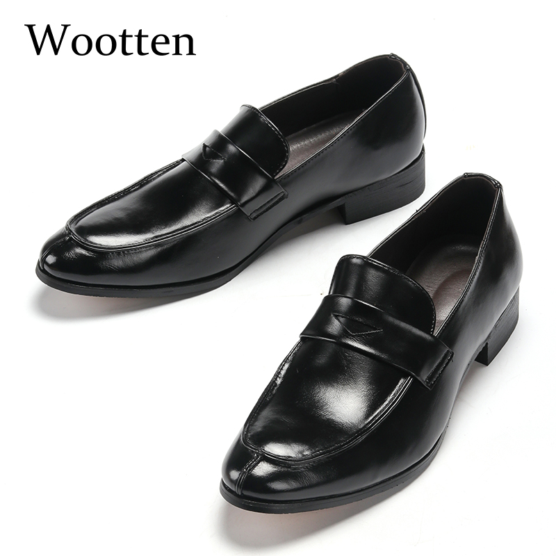 Plus Size Moccasins Men Leather Social Adult Brand Dress Luxury Fashion Driving Designer Mens Shoes Casual #1751