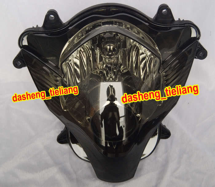 Motorcycle Smoke Headlight Headlamp for Suzuki GSXR 600 750 K6 2006 2007, GSXR600 GSXR750 06 07 Black Color new motorcycle ram air intake tube duct for suzuki gsxr600 gsxr750 2006 2007 k6 abs plastic black