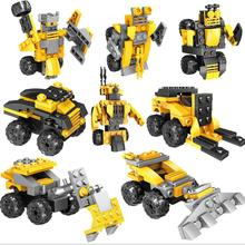 4PCS/LOT Wall E Compatible With Legoings  Building Bricks Idea Robot Building Blocks Toys For Children new creator idea robot wall e action figures compatible creators 21303 building block toys christmas gifts children 16003