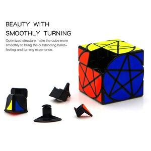 Image 4 - Qiyi Mofangge مكعب الخماسي الهندسة شكل نجمة مكعب ستيكيرليس سرعة مكعب الألغاز مكعبات سحرية لعب للأطفال مسلية