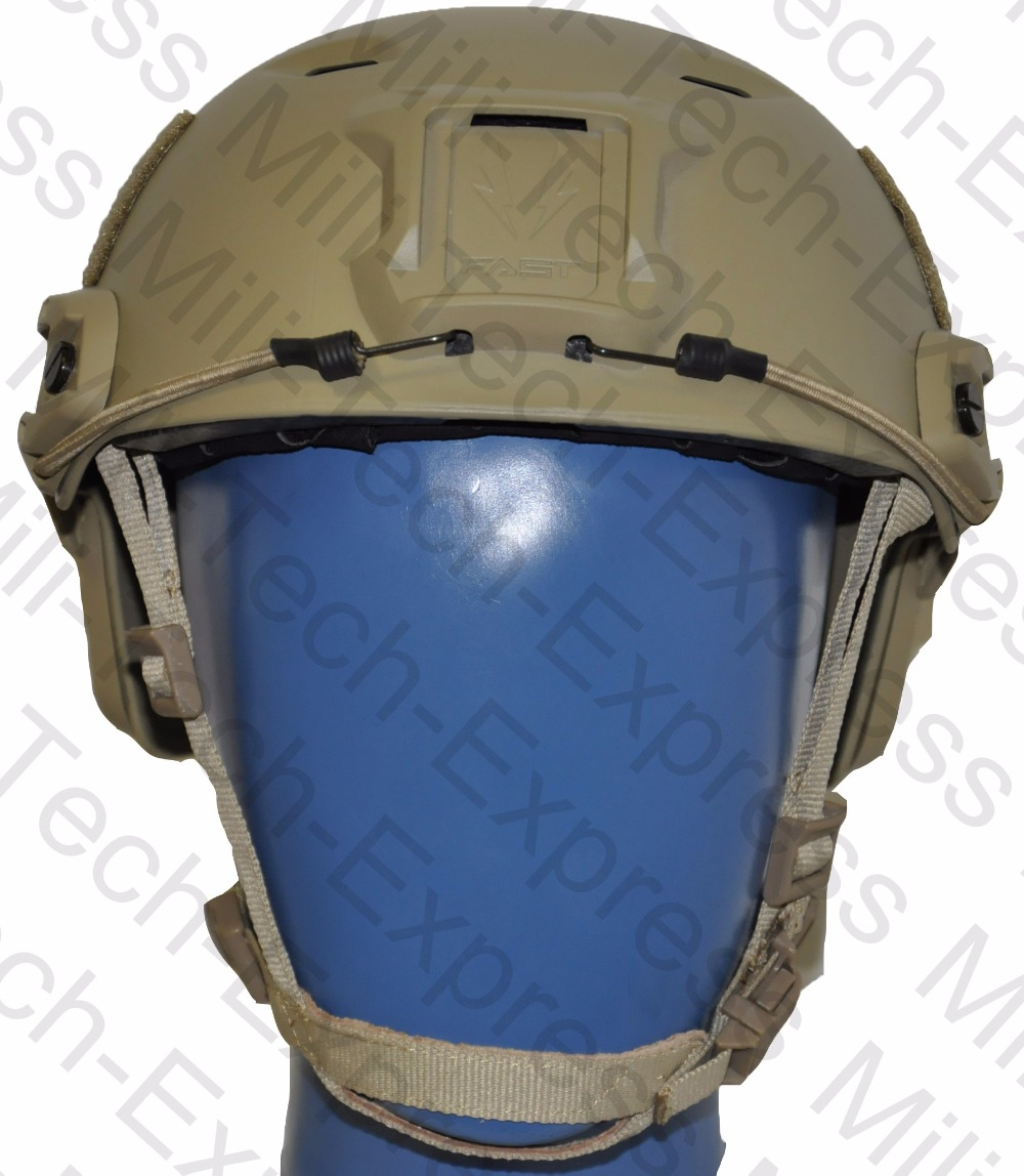 FAST TAN BJ High Cut Style Vented Airsoft Tactical Helmet / Ops Core Style Base Jump Training Helmet / FAST Air Soft Helmet fast mc pj carbon style vented airsoft tactical helmet ops core style high cut training helmet fast ballistic style helmet