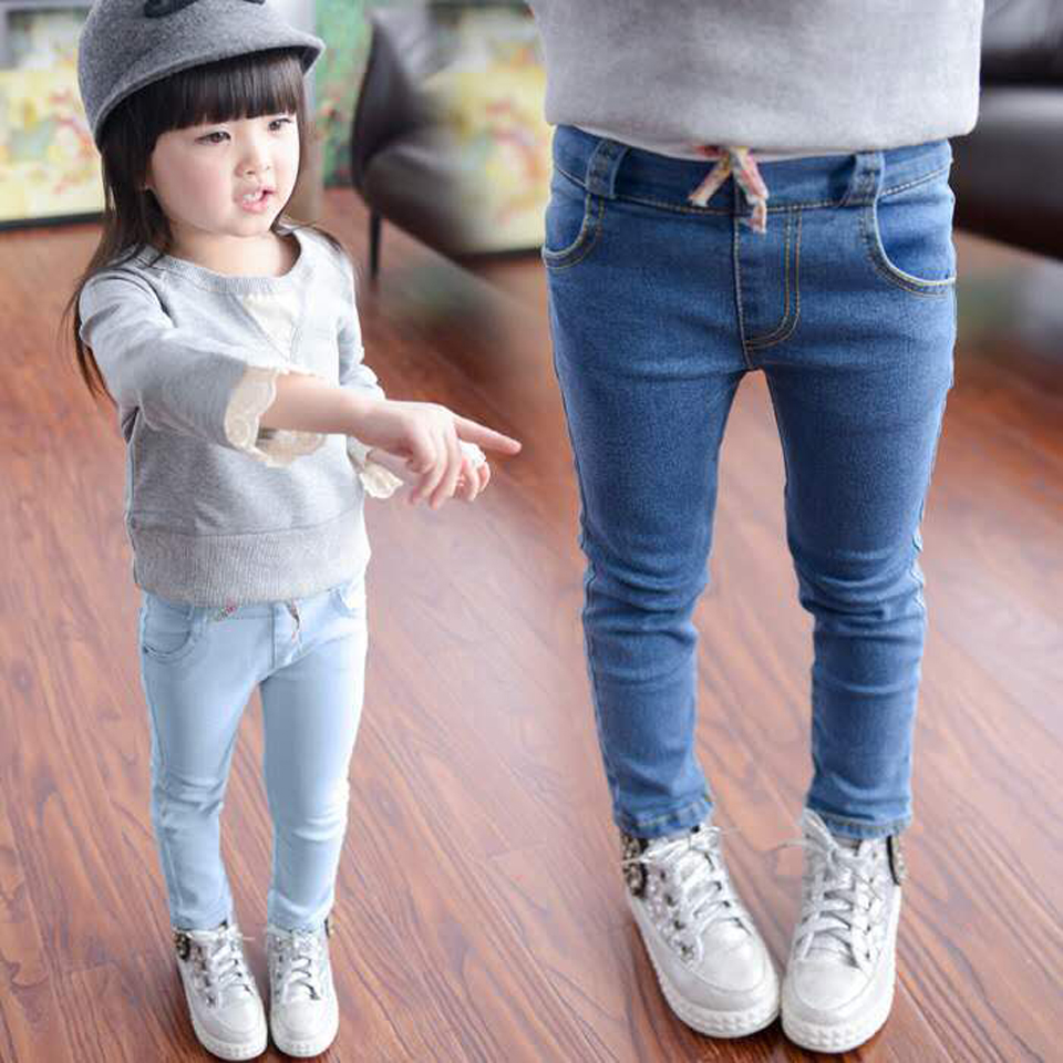 Fashion 2019 Girls Leggings New Spring Autumn Kids Jeans Girls Elastic Skinny Children Pencil Pants For 2 To 6 Years Trousers