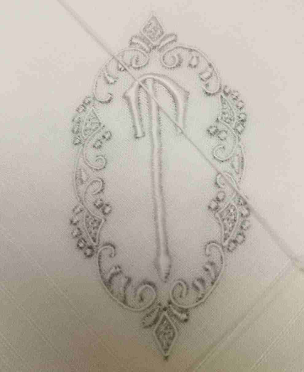 Set Of 12 Fashion Men's Monogrammed Handkerchiefs 16.5x16.5