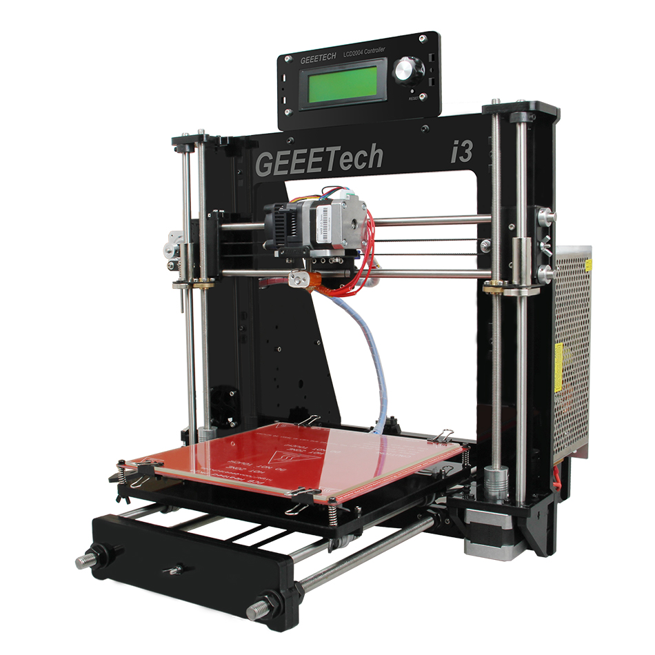 Geeetech Open Source 3D Printer 8MM Acrylic Frame Reprap i3 Pro DIY Kit Support Multi Materials LCD2004