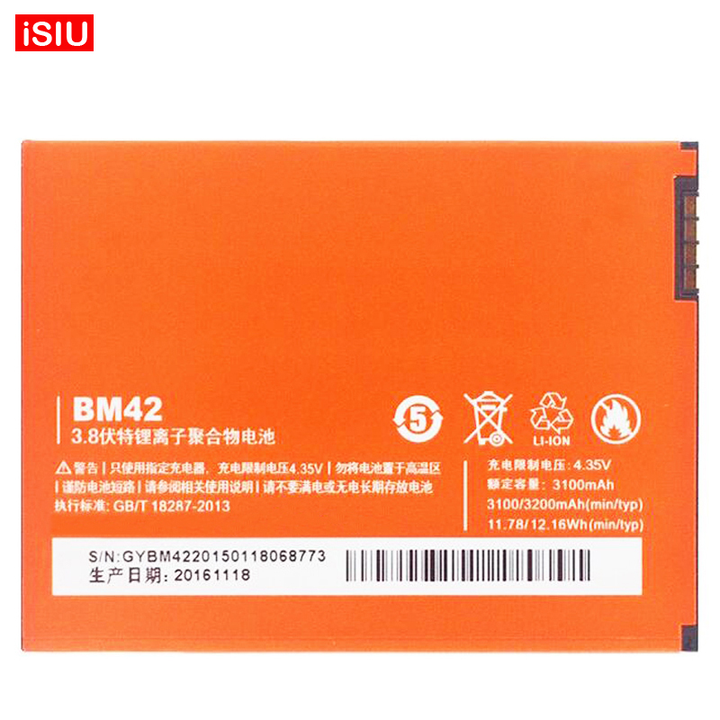 For Xiaomi Hongmi Note / Red Rice Note / Redmi Note <font><b>BM42</b></font> <font><b>Battery</b></font> For Xiaomi Hongmi Note1 / Red Rice Note1 / Redmi Note1