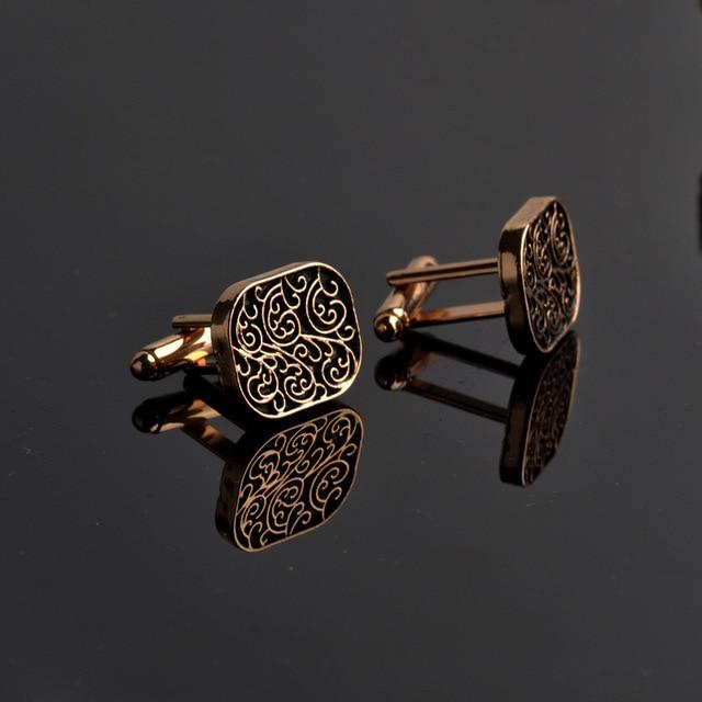 Cao cấp sơ mi Dây bộ sưu tập phụ kiện cổ điển Người Thời Trang Thiết Kế chạm khắc Khuy Măng Sét cho Nam Khuy gemelos