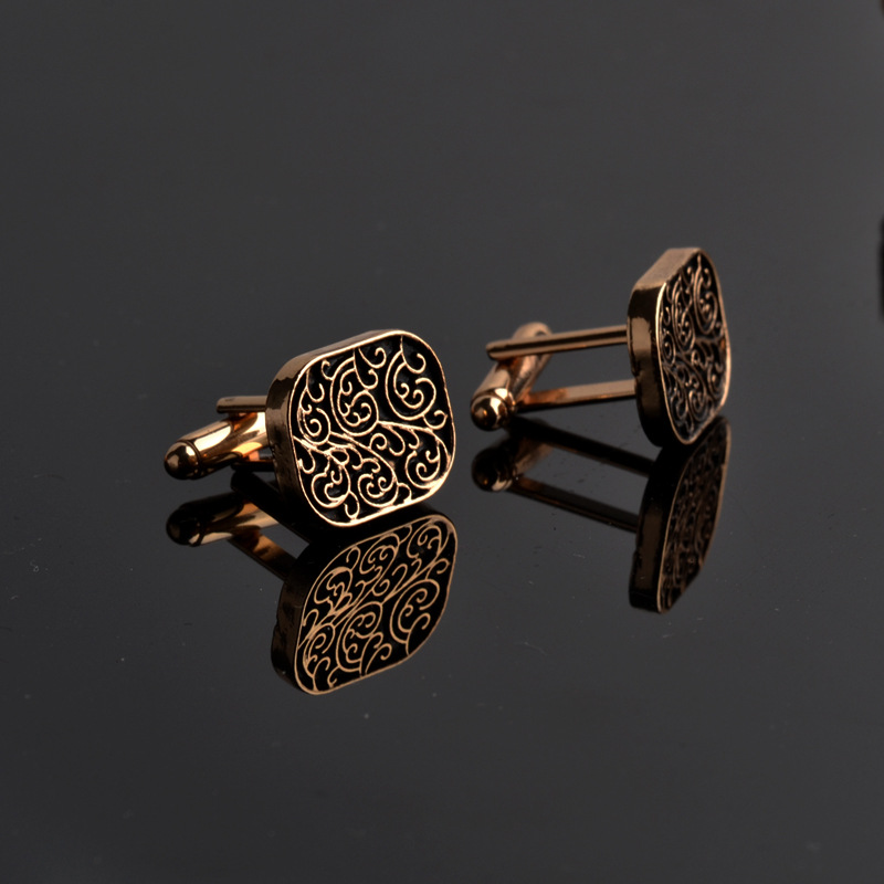 The high-end men's shirts Cufflinks collocation accessoriesgifts classic Mens Fashion Design carving high-quality Cufflinks