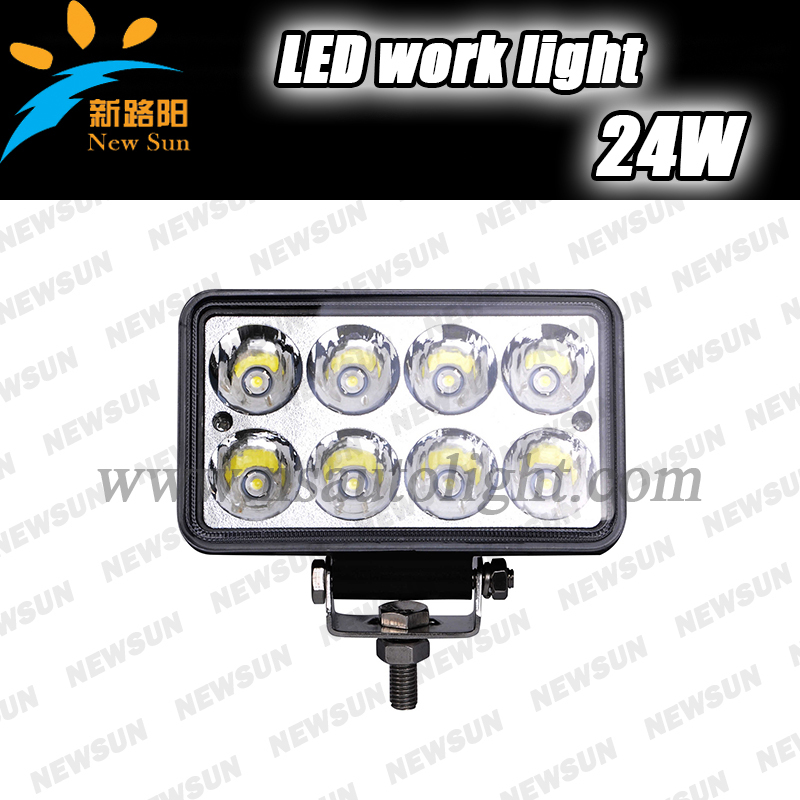 4'' High Power 24W LED Work Light Off Road Light tractor Boat Truck 10-30V Spot LED Working Driving light Lamp IP68 waterproof 19inch 40w 6500k ip67 4000lm car led high power working light headlights for truck outdoor work lamp
