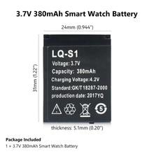 YCDC بطارية ساعة ذكية دائمة 1 قطعة LQ-S1 3.7 فولت 380mAh بطارية ليثيوم أيون قابلة للشحن ساعة ذكية DZ09